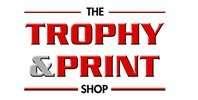 Trophy and Print Shop Logo